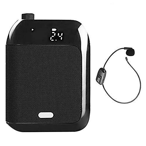 拡声器 無線拡声器 2.4G技術内蔵 ワイヤレスポータブル拡声器 ハンズフリー拡声器 ワイヤレスマイク付属 音楽再生/ラジオ放送/拡声/対応