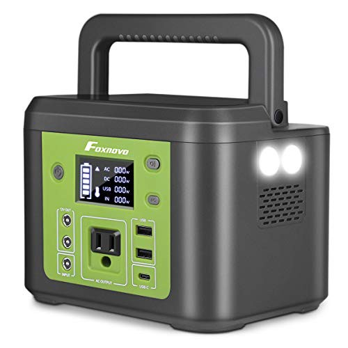 Foxnovo ポータブル電源 大容量48000mAh/177.6Wh 家庭アウトドア両用バックアップ電源 PSE認証済 三つの充電方法 AC(200W 瞬間最大250W)