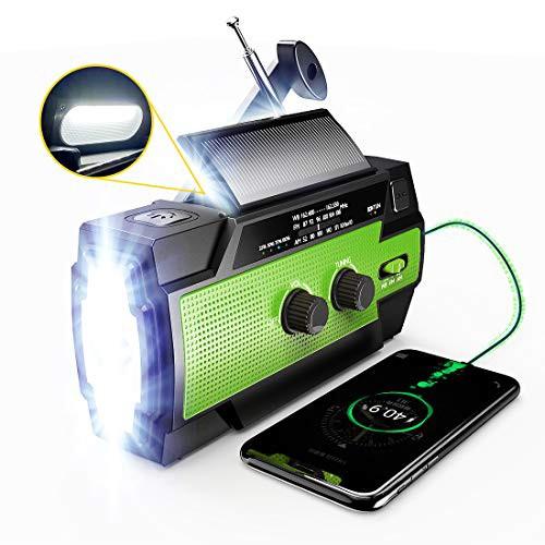 商品名防災ラジオ 緊急ラジオ ソーラーラジオ 手回しラジオ 多機能 懐中電灯 AM/FM携帯ラジオ SOSアラート付き iPhone Android対応可能