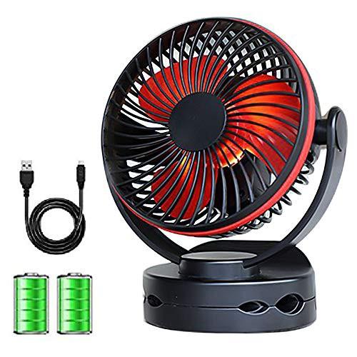 【2020最新版】Easion 扇風機 USB 卓上扇風機 クリップ 充電式 usbファン 超強風 静音 風量4段階調節 360度角度調整 長時間連続使用 LED