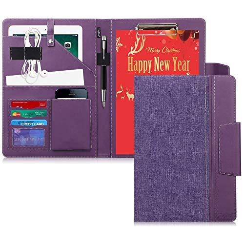 クリップボード a 4 バインダ toplive 布 模様 レザー 会議 パッド ビジネス ファイル 収納 ポケット 搭載 ペン ホルダ 付き マグネット