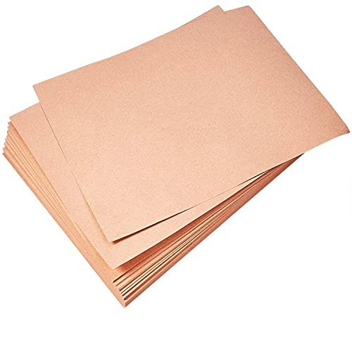 TCATEC クラフトペーパー A4 クラフト紙 100枚 0.33mm 260g 厚口 はがき用紙 名刺 カード用紙 包装紙 100枚