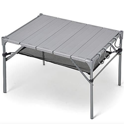 キャンプ テーブル 【S字フック4個*脚キャップ付き】 無限連結可能 耐荷重40kg 耐熱200度 GUAPO 折りたたみ 組立簡単 軽量 コンパクト ア