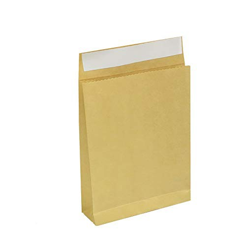 宅配紙袋 中 無地 50枚 Mサイズ クラフト120g未晒 茶色配送用紙袋 簡単に梱包が出来る幅広マチのテープ付き クロネコヤマト宅急便 コン