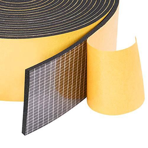 スポンジテープ 気密防水パッキン すきまテープ 衝突防止 防音 防水 静音テープ 50mm (幅) x 3mm (厚さ) x 5m (長さ) x 1本