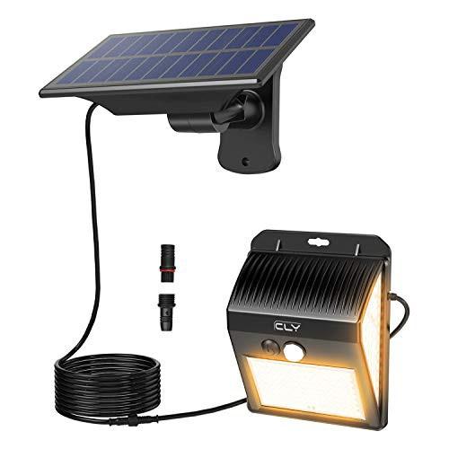 CLY 分離型 センサーライト ソーラーライト 防犯ライト 玄関ライト 200LED高輝度 300LM IP66防水 2200mAh 壁掛け式 3つ点灯モード ソーラ