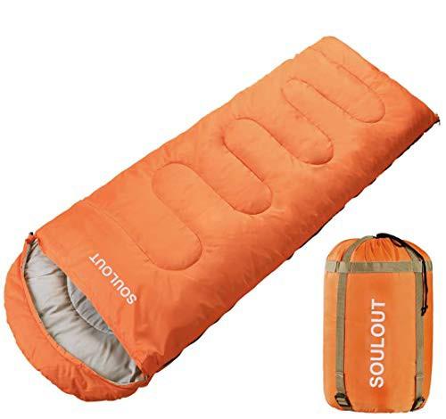 SOU LOUT 寝袋 シュラフ 封筒型 コンパクト オールシーズン 丸洗い 連結可能 防水 アウトドア キャンプ 登山 防災 使用温度0*25度 軽量