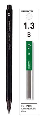 コクヨ 鉛筆シャープ 1.3mm 黒B芯シャープ替芯 黒B芯 PS-PE113D-1PPSR-B13-1P 2種2個組み