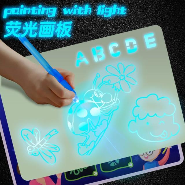 ライト楽しい描画ボード落書き落書き描画タブレットタブレットマジック描画3D蛍光ペン教育玩具