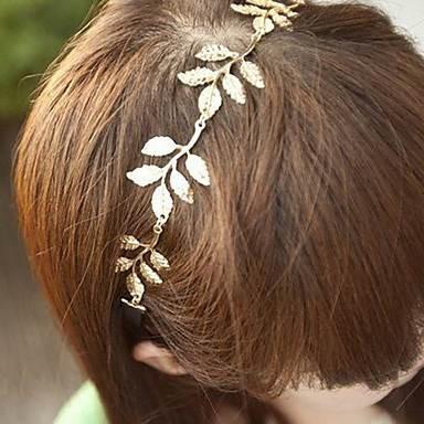 金属の葉のヘッドバンドヘアバンドファッションヘアアクセサリーの葉、合金