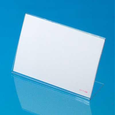 L型カード立 PET透明 34-3320(ショーカード用) 100個