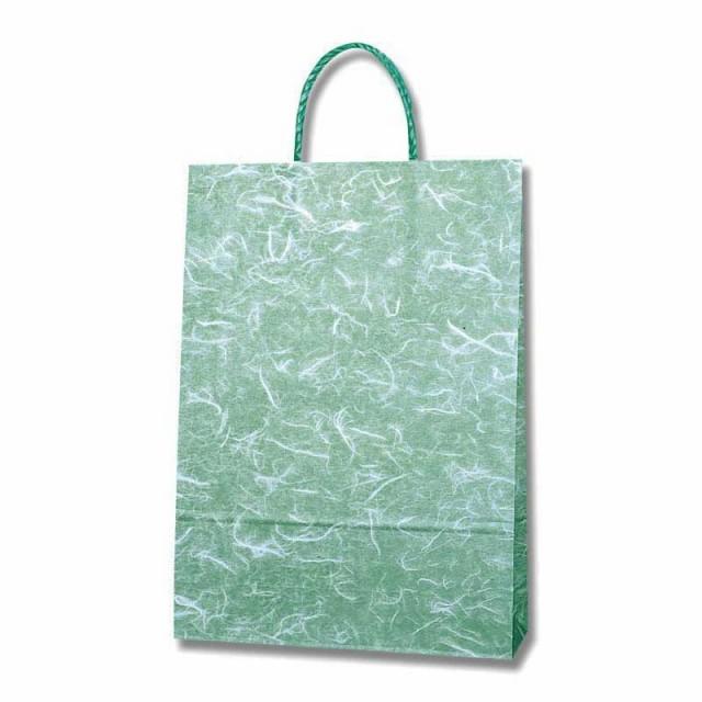 手提げ紙袋 スムース 2才 雲竜緑 100枚