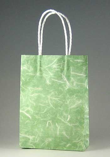 手提げ紙袋 スムース 16-2 雲竜緑 160mm巾 300枚