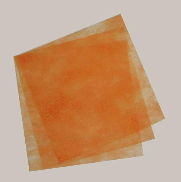【ネコポス可能】パディ敷紙 No.43オレンジ 不織布シート 1束 (1個口:4点まで)