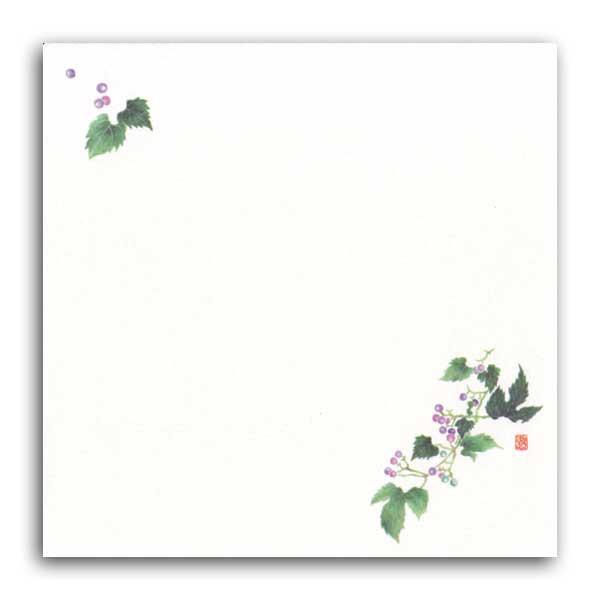 【ネコポス可能】耐油しぼり懐敷 TA-E14 山ぶどう(6月〜11月) 100枚 (1個口:2点まで)