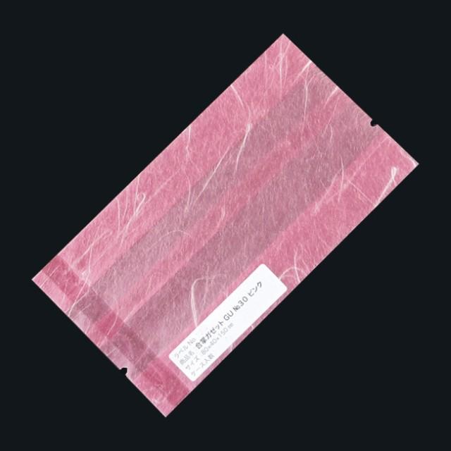 合掌ガゼット袋 GU No.30ピンク バラ 80×40×150 雲龍紙 500枚