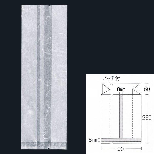 合掌ガゼット袋 GU No.34 バラ 90×60×280 ホワイト 雲龍紙 100枚