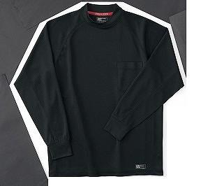 ホシ服装 226 長袖ローネック 4ブラック M