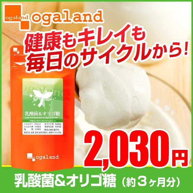 乳酸菌&オリゴ糖(約3ヶ月分) ヨーグルト サプリメント オリゴ糖 乳製品 乳酸菌 _JD _JH _LH3K