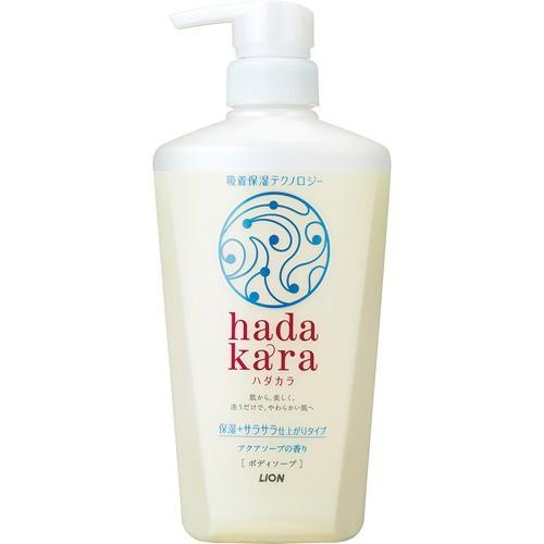 ハダカラ ボディソープ 保湿+サラサラ仕上がりタイプ アクアソープの香り 480ml