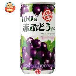 送料無料 【2ケースセット】 サンガリア 100% 赤ぶどうジュース 190g缶×30本入×(2ケース)