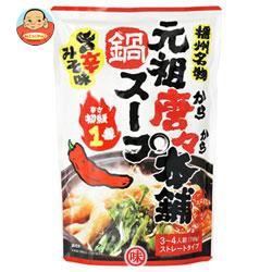送料無料 【2ケースセット】 田靡製麺 元祖唐々本舗鍋の素 辛さ1番 750g×10袋入×(2ケース)