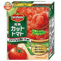 【送料無料】 キッコーマン 完熟カットトマト 388g紙パック×12個入