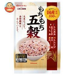 送料無料 キッコーマン 日本の穀物 もちもち五穀 180g(30g×6)×12袋入