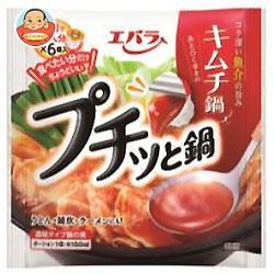 送料無料 【2ケースセット】 エバラ食品 プチッと鍋 キムチ鍋 23g×6個×12袋入×(2ケース)