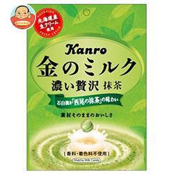 送料無料 カンロ 金のミルクキャンディ 抹茶 70g×6袋入
