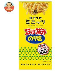 送料無料 コイケヤ コイケヤミニッツ スティックポテト のり塩 40g×12(6×2)袋入