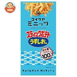 送料無料 コイケヤ コイケヤミニッツ スティックポテト うすしお味 40g×12(6×2)袋入