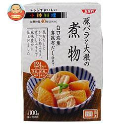 送料無料 【2ケースセット】 SSK レンジでおいしい! 小鉢料理 豚バラと大根の煮物 100g×12個入×(2ケース)