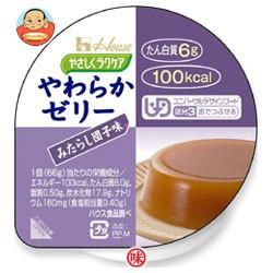 送料無料 【2ケースセット】 ハウス食品 やさしくラクケア やわらかゼリー みたらし団子味 66g×48(12×4)個入×(2ケース)