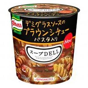 【送料無料2ボール】味の素 クノール スープDELI デミグラスソースのブラウンシチュー 12個(6個×2ケース)[スープデリ][のしOK]big_dr