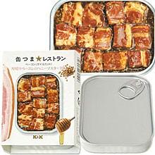 国分 K&K 缶つまレストラン ベーコン(ダイスカット) 厚切りベーコンのハニーマスタード味 65g