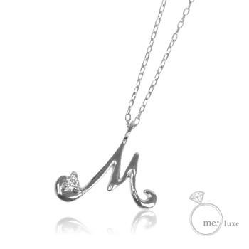 ダイヤ/イニシャルネックレス M 【ネックレス】【necklace】【首飾り】
