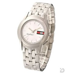 グッチ YA055311 5500M 腕時計 ホワイトGRG文字盤
