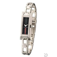 グッチ YA110512 110 腕時計 ブラックGRG文字盤