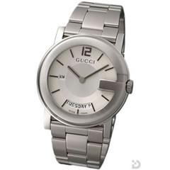 グッチ GUCCI 101M メンズ 腕時計 シルバー文字盤