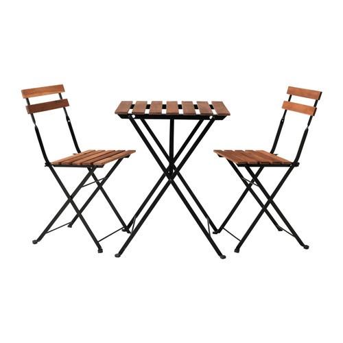 送料無料IKEAイケアTARNOガーデンテーブルセットテーブル&チェア2脚 机椅子アカシア材 スチール
