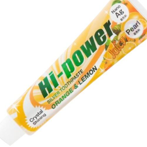 メール便のみ送料無料 ハイパワー シルバートゥースペースト 120g オレンジ&レモン 歯磨き粉 4537307028001