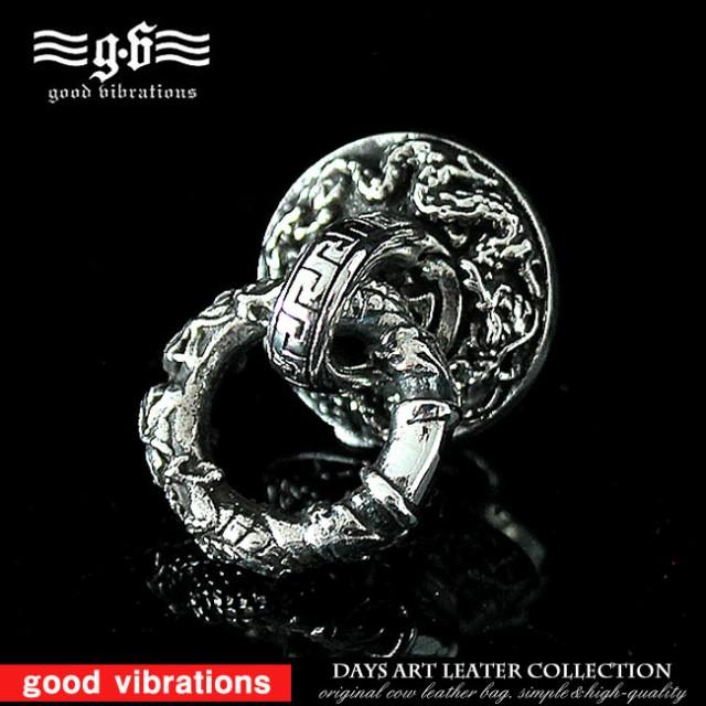 「good vibrations」 シルバー925 龍 ドラゴン 和柄 ハードデザイン シルバーアクセ サイドコンチョ ウォレットチェーン用に dh051