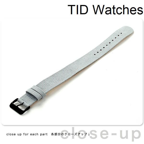 【あす着】TID watches 時計 交換用ベルト トウェイン 21mm ブラック尾錠 TID-BELT-TW/MINERAL ミネラル