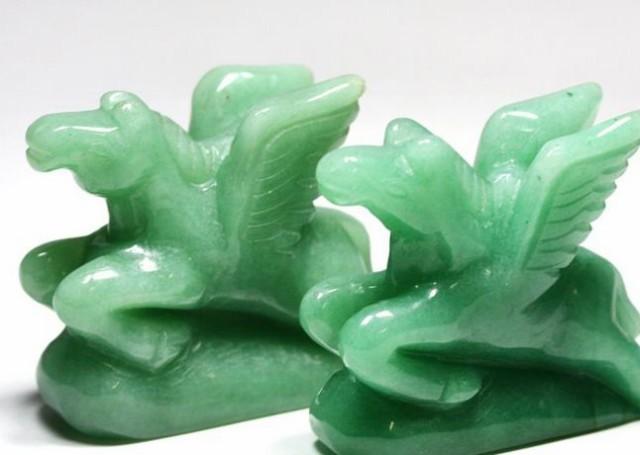 【彫刻置物】馬(ペガサス) 約45mm アベンチュリン 1個売り 天然石 パワーストーン