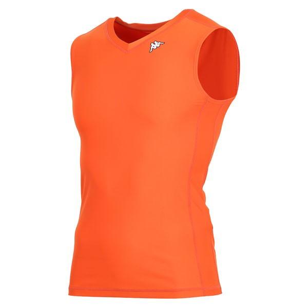 17FW カッパ(Kappa) ノースリーブコンプレッションシャツ KF412UT30-OR2
