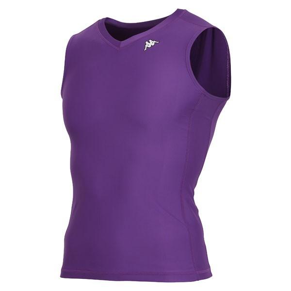 17FW カッパ(Kappa) ノースリーブコンプレッションシャツ KF412UT30-PU