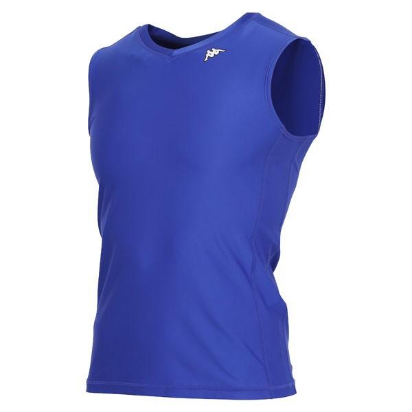 17FW カッパ(Kappa) ノースリーブコンプレッションシャツ KF412UT30-RB