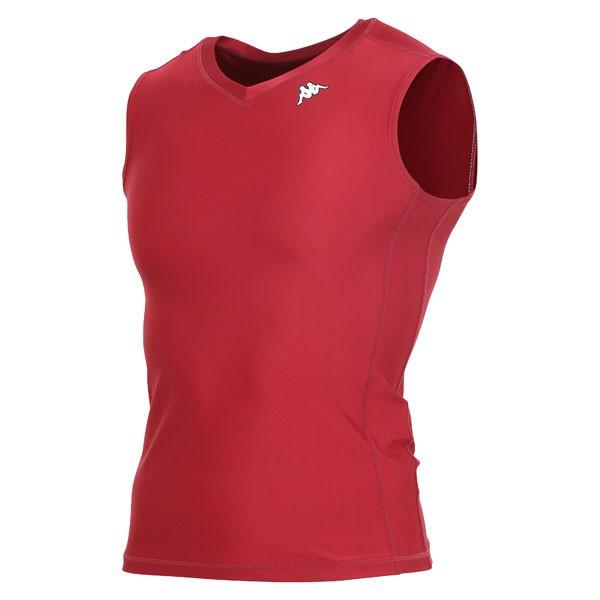 17FW カッパ(Kappa) ノースリーブコンプレッションシャツ KF412UT30-WR