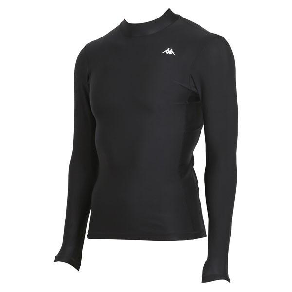17FW カッパ(Kappa) ロングノースリーブコンプレッションシャツ KF412UT31-BK